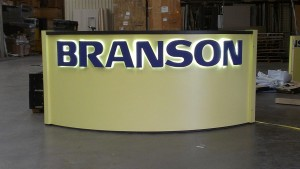 Branson Backlit Lettering Sign