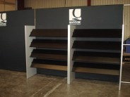 Custom Shelving with Tension Fabric Back Wall