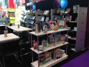 Custom Book Displays, Shelves and Formulate Tension Back wall with Printed Graphic